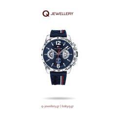 Ανδρικό ρολόι Tommy Hilfiger Decker πολλαπλών ενδείξεων με κάσα από ανοξείδωτο ατσάλι και λουράκι καουτσούκ. Breitling, Watches, Accessories, Jewelry, Jewlery, Bijoux, Clocks, Jewerly, Clock