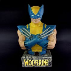 MVX 007- Wolverine Bank Paint Your Own Pottery, Ceramic Bisque, Clays, Cake Shop, Pottery Painting, Wolverine, Batman, Ceramics, Superhero