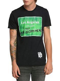 Fear The Walking Dead Los Angeles T-Shirt, BLACK