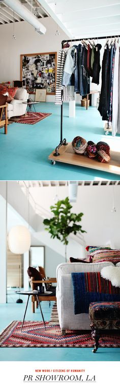 turquoise floor ~ wouldn't this be fun somewhere!