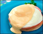 mmm, Hungry Girl eggs benedict, 180 calories