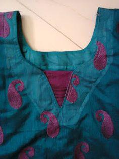 Creative of rainy . Salwar Neck Patterns, Salwar Suit Neck Designs, Churidar Designs, Kurta Neck Design, Kurta Designs Women, Chudithar Neck Designs, Neck Designs For Suits, Neckline Designs, Designs For Dresses