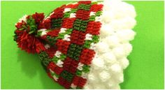 Crochet Christmas Beanie Hat With 3D Snowflakes
