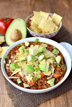 Crock Pot Sweet Potato and Quinoa Turkey Chili + iStir Crock-Pot Slow Cooker Giveaway! | Iowa Girl Eats