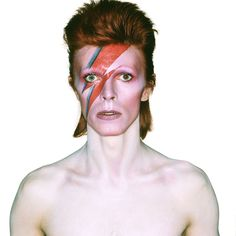 Photograph by Brian Duffy for Aladdin Sane album cover shoot, 1973 from The Duffy Archive & The David Bowie
