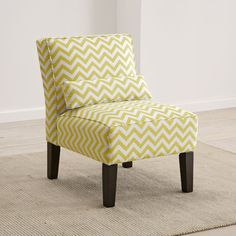 Skyline Furniture Upholstered Armless Accent Chair (available In Grey  Chevron Pattern)