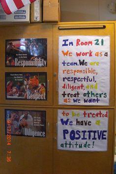 Class motto School Classroom, Classroom Ideas, Classroom Promise, Class Motto, End Of School Year, Positive Attitude, Open House, Elementary Schools, No Response