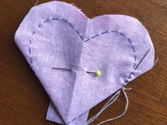 How to make a fabric heart - Arthur Marlow Sewing Hacks, Sewing Projects, Flag Quilt, Origami 3d, Fabric Hearts, Fabric Ornaments, Hand Embroidery Designs, Diy Crafts To Sell, Sewing Patterns