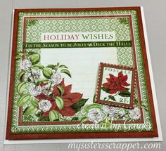 Graphic 45 Time to Flourish Christmas Cards