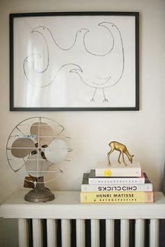 Tiny flat solution: Radiator shelf