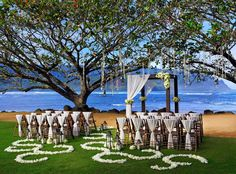 Small and intimate #wedding ceremony at The St. Regis Princeville Resort in Kamani Cove #SPGDreamWedding #SPGWeddings