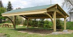Bespoke glue laminated Carport Revelatio - garage and shed - bristol - EcoCurves