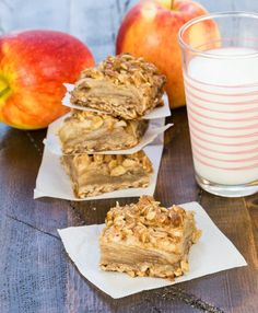 These Apple Crisp Bars have all the deliciousness of my favorite fall dessert in a portable bar form. Great for potlucks and lunch boxes!