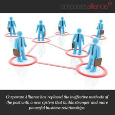 Corporate Alliance has replaced the ineffective methods of the past with a new system that builds stronger and more powerful business relationships.  #corporatealliance