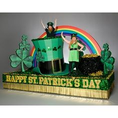 Patrick's Day Float Theme - Take the guesswork out of building a St. Patrick's Day float with this complete theme kit that includes materials and instructions to construct. St Patrick Parade, St Patricks Day Parade, Parade Float Supplies, Sant Patrick, Mardi Gras Parade, St Patrick's Day Decorations, St Paddys Day, Parade Floats, St Pats