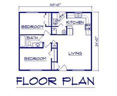 1689cfe625f914b6b9a368fb87ebdbb1 house estimate one story houses i like this floor plan 700 sq ft 2 bedroom floor plan build or,20 X 30 Ft House Plans
