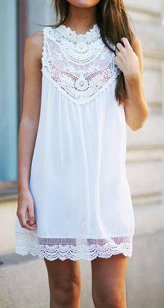 Vestidos blancos casuales - Curso de Organizacion del hogar