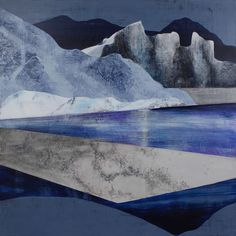 Modern Mountain Art inspired by the Geology and seasonal shifts in high alpine landscapes. Winter Ascent