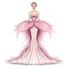Flamingo Gown