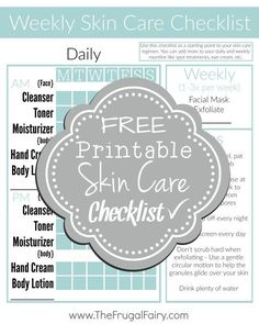 Get your skin care routine back on track with this #FREE Printable Checklist