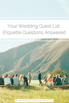 Your Wedding Guest List Etiquette Questions, Answered Wedding Party Songs, Wedding Dance Songs, Wedding Guest List, Wedding Guest Book, Wedding Reception Table Decorations, Affordable Wedding Venues, Wedding Locations, Wedding Gifts For Groom, Wedding Etiquette