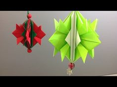 Easy Origami Christmas Ornament Decoration - YouTube