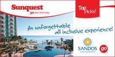 Sandos Hotels & Resorts: An unforgettable all inclusive experience! DEALS ---> http://www.sunquest.ca/en/sandos-hotels-resorts #TravelDeals