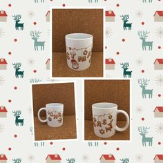 Garland Of Christmas Handmade Mug. by NGBCraftsandSupplies on Etsy Christmas Mugs, Handmade Christmas, Tim Holtz, Clear Stamps, Doilies, Garland, Handmade Items, Etsy, Christmas Mug Rugs