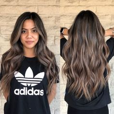 Smoky 🌪🌪🌪From 🍊to 🆒in 8 hours Swipe left to see before it& a color correction service. Used 5 different formula and tease lights, wave slice and lowlights, also color melting to achieve this looking! Color correction by Asian Hair Balayage Ash, Bayalage Light Brown Hair, Asian Hair Highlights, Beige Blonde Balayage, Highlights For Dark Brown Hair, Brown Blonde Hair, Hair Color Balayage, Brown Hair Colors, Asian Brown Hair