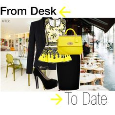 HTW: from desk to a date http://thefolkloreinc.blogspot.mx/2013/09/htw-from-desk-to-date.html