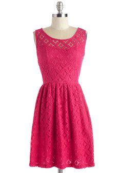A Time and a Lace Dress. You have a last-minute soiree to attend this evening - so, of course, you jump at the perfect opportunity to flaunt this vivid, fuchsia-pink frock! #pink #modcloth
