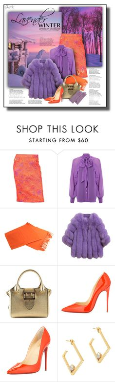 """Lavender Winter, Faux Fur"" by gracekathryn ❤ liked on Polyvore featuring D&G, French Connection, Burberry, Christian Louboutin, Edge of Ember, Forzieri, Winter, women, fashionset and womensFashion"