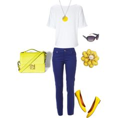 Navy & Yellow, would I ever dare to wear colored jeans?