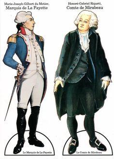 French Dolls Marquis de La Fayette & Comte de Mirabeau