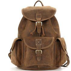 Vintage crazy horse leather oak brown backpack (1.210 DKK) ❤ liked on Polyvore featuring bags, backpacks, sac, vintage backpacks, leather satchel, vintage style backpacks, vintage leather backpack and leather satchel handbags