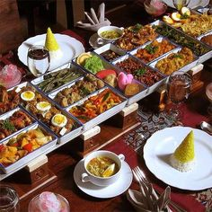 Indonesian recipes combined: The famous and mouth watering Indonesian rice table