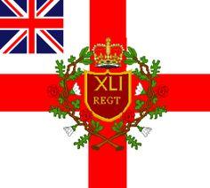 Regimental Colour- 1812- The 41st Regiment of Foot