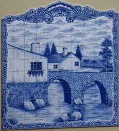 Viajar e descobrir: Portugal - Ulme - Painel de azulejos