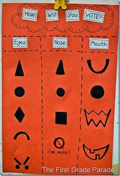 The First Grade Parade: pumpkins everywhere, do a vote for how we will carve the pumpkin during shared reading/morning work