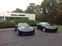 Callaway Corvettes ready for pick up at Callaway's Old Lyme CT facility.