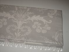 Roman Blind in Laura Ashley Josette fabric High window Silver Curtains, Thick Curtains, Grey Curtains, Curtains 2018, Custom Made Curtains, Made To Measure Curtains, Grey Room, Living Room Grey, Wooden Window Blinds