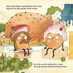 From LADY PANCAKE AND SIR FRENCH TOAST by Josh Funk. Illustration copyright 2015 by Brendan Kearney. (Mr. Pig LIVE . . . with Lady Pancake & Sir French Toast)