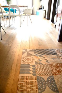 Kitchen openspace with mutina azulej