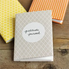These sweet, little paper-covered notebooks only take 5 minutes to make. Use them to record what your grateful for this Thanksgiving season!