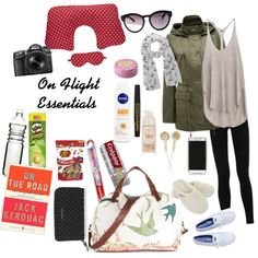 """On Flight Essentials #Travel #Flight"" by nici-botha on Polyvore  Follow me on Polyvore: awhimsicalchaos #AWhimsicalChaos"