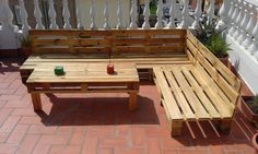 Build Pallet Outdoor Furniture Set | 99 Pallets