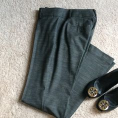 Gorgeous LOFT Dress Pants! Julie Fit with stretch dress pants. Only wore once! Like brand new. Realized after purchasing and wearing once that I needed the smaller size. Very comfortable. Beautiful gray. Paid full price. LOFT Pants Trousers