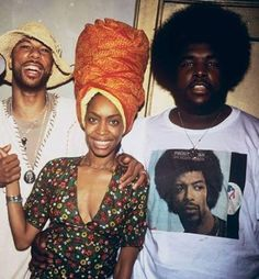 THROWBACK: Common, Erykah Badu, and Questlove circa 1999 #TheSoulquarians #GilScottHeron #photooftheday http://www.afropunk.com/photo/the-soulquarians  Photographed by mike schreiber 