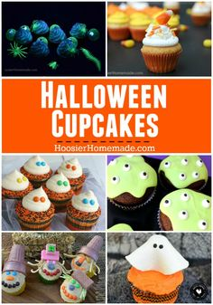 Fun and EASY to make Halloween Cupcakes - Glow in the Dark, Candy Corn, Ghosts and more! Everything you need for your Halloween Party!