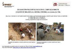 Excavación paleontologica en el Camp dels Ninots (Caldes de Malavella, Girona), del 6 al 31 de mayo de 2013.